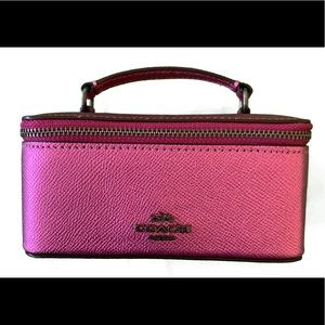 NEW Coach Pink Jewelry Case